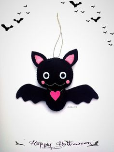 Hey, I found this really awesome Etsy listing at https://www.etsy.com/listing/249636574/cute-bat-halloween-ornament-felt-plush