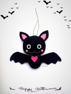 Hey, I found this really awesome Etsy listing at https://www.etsy.com/listing/249636574/cute-bat-halloween-ornament-felt-plush
