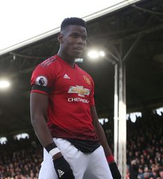 Paul Pogba of Manchester United celebrates scoring their first goal during the Premier League match between Fulham FC and Manchester United at Craven Cottage on February 2019 in London, United. Get premium, high resolution news photos at Getty Images Paul Pogba Manchester United, Fulham Fc, Premier League Matches, London United, London England, Scores, United Kingdom, February, Cottage