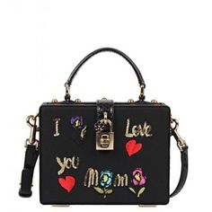 Dolce & Gabbana Black Grosgrain Compact Shoulder Bag