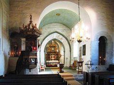 interior of Alstadhaug church - where my Leines Great-great grandparents (Alexander and Ellerine) were married on August 30, 1868.