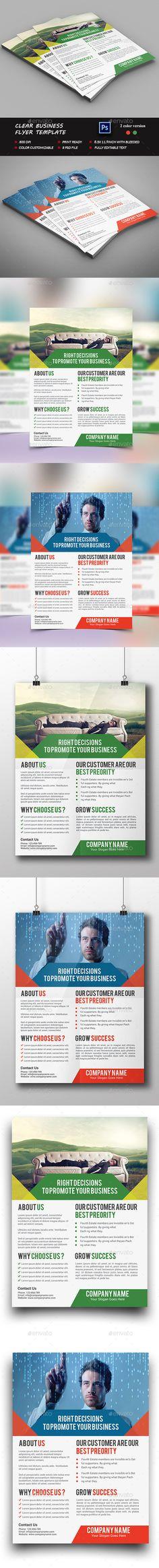 Clean Business Flyer Tempalte #design Download: http://graphicriver.net/item/clean-business-flyer-template/12499455?ref=ksioks