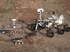 Three generations of Mars rovers