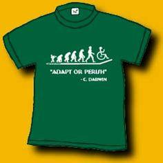 adapt or perish shirt. see text description below