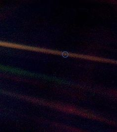 """The Pale Blue Dot.  Another Top Favorite.  Watch the 3 minute youtube video """"Pale Blue Dot"""" by Carl Sagan."""