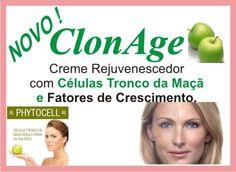 ClonAge- Creme Anti Idade com Células-Tronco Vegetais PhytoCellTec Malus domestica é o primeiro ingrediente ativo de células-tronco vegetais do mercado, cujo efeito foi avaliado em células tronco da pele de seres humanos.  ClonAge Alquimia tem na sua fórmula este fabuloso ativo,que, literalmente, atrasa o envelhecimento e possui um inigualável efeito antirrugas. Ligue (51-3311.8811) e informe-se.