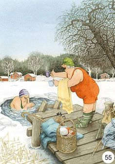 New single postcard by Inge Look old ladies winter swimming Old Lady Humor, Old Folks, Image Originale, Look Older, Norman Rockwell, Whimsical Art, Old Women, Getting Old, Illustrators