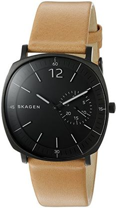 Skagen Men's 'Rungsted' Quartz Stainless Steel and Brown Leather Casual Watch (Model: SKW6257) Skagen http://www.amazon.com/dp/B017A7S368/ref=cm_sw_r_pi_dp_Jwu.wb1FGMA74