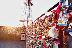 "Seoul Tower's ""Locks of Love"""