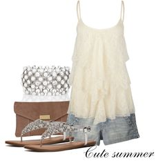 Cute summer., created by chrishei82 on Polyvore