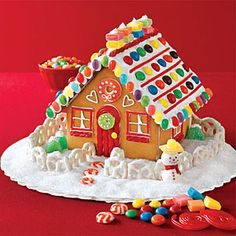 colorful-gingerbread-house #gingerbreadhouse