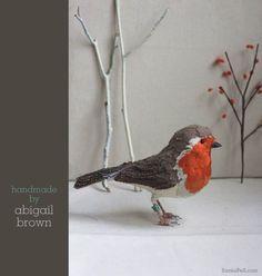 handmade robin by Abigail Brow