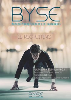 """Locandina """"Byse is Recruiting"""" Spring 2015"""