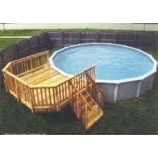 Image result for ideas for a deck for above ground pools