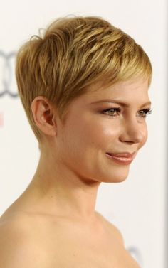 More Michelle Williams. This girl knows how to wear a pixie cut right!
