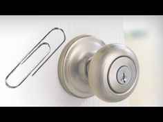 How to Open a Locked Door Using a Paperclip | Bathroom ...