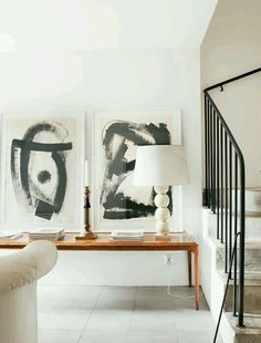 ○ neutral home nirvana ○ modern paintings My Living Room, Home And Living, Living Spaces, Design Entrée, House Design, Interior Architecture, Interior And Exterior, Interiores Design, Home Fashion