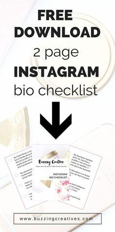 2 page instagram bio checklist free download grow your instagram