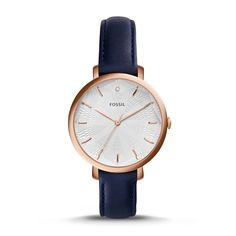 Fossil Incandesa Three-Hand Date Leather Watch - Blue, ES3864  FOSSIL® Watches