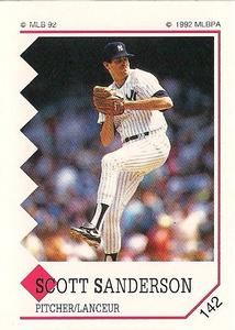 1992 Panini Stickers Canadian #142 Scott Sanderson Front