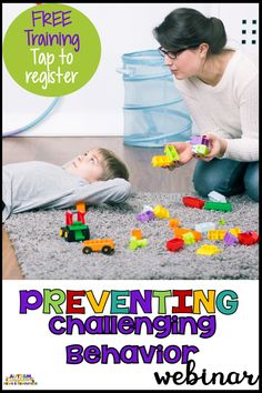 Looking for ideas about how to best manage challenging behavior in your classroom? How about we start with preventing it! Grab this free webinar by registering with your email address and learn strategies and get tools to help you manage behavior Classroom Behavior, Autism Classroom, Special Education Classroom, Classroom Hacks, Classroom Setup, Classroom Resources, Classroom Organization, Autism Activities, Therapy Activities