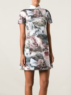 Find this wonderful Carven dress now at 50% off. CARVEN 'Ocean storm' print dress