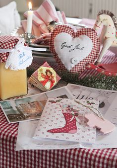 Gingham heart creative idea