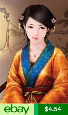 Chinese woman in traditional attire Ancient Beauty, Ancient Art, Art Chinois, Geisha Art, Art Asiatique, China Dolls, China Art, Cross Paintings, Chinese Culture