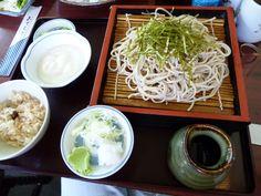 "Agosto, Pranzo""Wakasarechaya""(Soba-Osteria), Kitakaruizawa Gunma Japan"