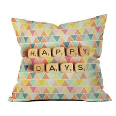 DENY Designs Happee Monkee Happy Days Outdoor Throw Pillow - 14244-OTHRP