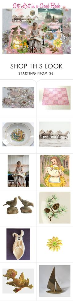 Get Lost in a Good Book by seasidecollectibles on Polyvore featuring WALL, Universal, Dollhouse, American Dakota and vintage