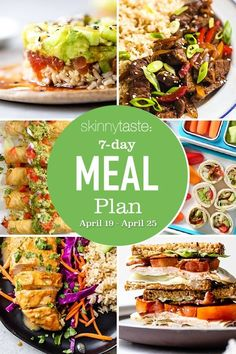 """A free 7-day, flexible weight loss meal plan including breakfast, lunch and dinner and a shopping list. All recipes include macros and WW Points. 7-Day Healthy Meal Plan As the world slowly starts to get back to """"normal"""" that also means more sports and after school activities- back to being busy (I'm not complaining)! But […] The post 7 Day Healthy Meal Plan (April 19-25) appeared first on Skinnytaste."""