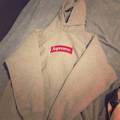 15d5562d2c35 Shop Women s Supreme Gray size M Sweatshirts   Hoodies at a discounted  price at Poshmark. Description  Authentic supreme box logo hoodie