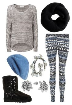Winter Outfit by superwholockdirectioner on Polyvore featuring Forever New, UGG Australia, J.Crew and Nordstrom