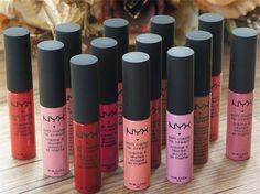 NYX soft matte dull liquid NYX lipstick vintage long lasting 10 pc set