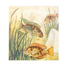 Vintage Restored Fish Note Pad