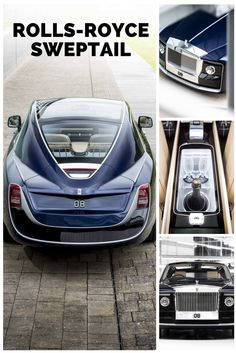 """Rolls Royce Sweptail foi revelado em 2017 que foi encomendado em 2013 por um comprador anônimo. A obra de arte custa cerca de 13 milhões de dólares. O nome sweptail vem das traseiras """"calda varrida"""", ou """"swep tail"""" que foram uma assinatura dos Rolls Royce do início do século 20. O comprador anônimo pediu que o carro fosse inspirado nos iates de luxo da década de 20 e 30. Com isto, os designers utilizaram como inspiração as portas do Phantom I de 1925 e as traseiras do Phantom II de 1934."""