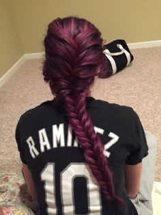 this is my hair, I dyed it myself using manic panic in purple haze