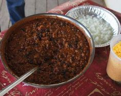 Bison is a healthy, tasty alternative to beef that's perfect for chili. This chili cooks down to a thick, hearty mixture of kidney beans, black beans, and ground bison over the course of two hours, which allows the flavors to fully develop. Click here to see 9 Tips to Make Perfect Chili.