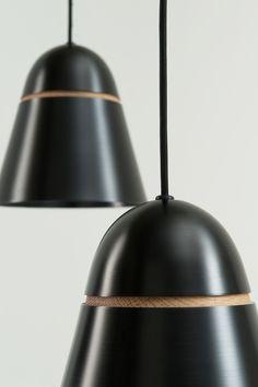 Aluminium and timber light shades ° by Nick  Sadowsky use gravity to maintain shape