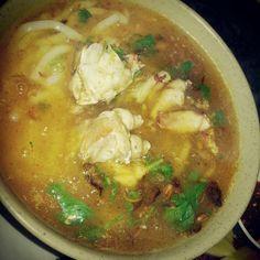 Vietnamese crab noodle soup