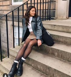 Preppy Outfits, Cute Outfits, Fashion Outfits, Fall Winter Outfits, Autumn Winter Fashion, Winter Fits, Dressing, Poses, Facon