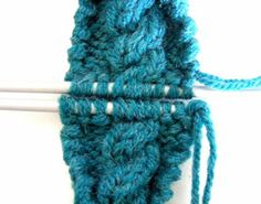Tutorial on Grafting Cables - Kitchener Stitch - from La Belle Helene
