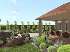 Ukážka záhradného projektu od pôvodného stavu pozemku, cez návrh okrasnej záhrady, až po samotnú realizáciu záhrady na kľúč.
