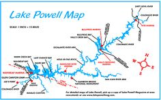lake powell map | For the most detailed maps of