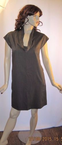 J-Crew-Size-8-Gray-100-Wool-Fully-Lined-Uniquely-Styled-Dress-with-Zippers