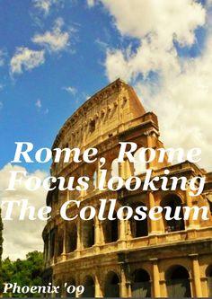 Rome : focus looking towards the Colloseum