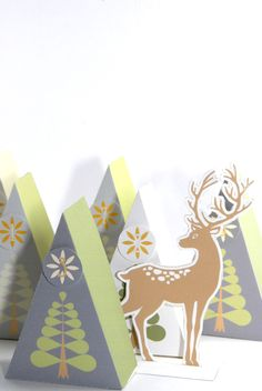 FREE printable advent calendar boxes and deer clip art