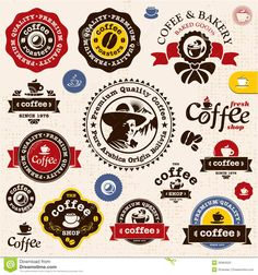 Coffee Badges And Labels Stock Photo - Image: 25964520