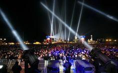 Laser Show am Brandenburger Tor
